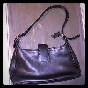 Black leather coach purse..:nwot